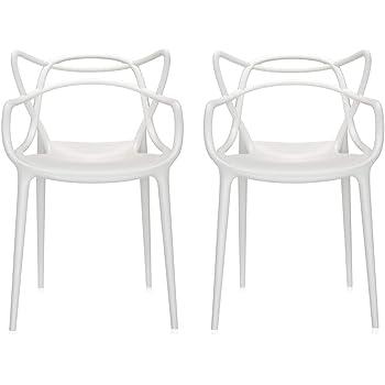 Kartell Masters Stuhl, Weiß, 4er Set: : Küche