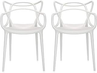 Kartell Masters - Juego de sillas (policarbonato, 57 x 47 x 84 cm), Color Blanco