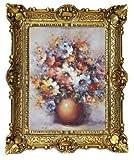 Lnxp Marcos de flores de bodegón MD115, 56 x 46 cm, cuadros barrocos antiguos, marco de flores, jarrón, paraíso de flores