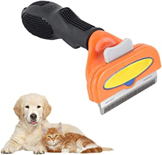 Deshedding Brush, Hamkaw Professional Dog Shedding Brush Grooming Brushes Tool for Pet Dogs Cats Long & Short Hair - Effectively Reduces Shedding by Up to 95% M