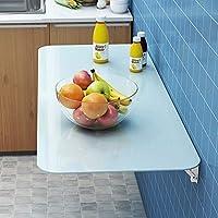 折りたたみ式のキッチンテーブル、壁に取り付けられた棚、コンソール、子供のテーブル、目に見えないダイニングテーブル、シンプルでスタイリッシュ、快適で耐久性があります。,ブルー,80x30cm/31x12in