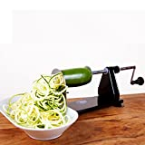 Impeccable Culinary Objects (ICO) 4-Blade Metal Vegetable Spiralizer, Black