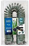 Aqua Control C2107N2 Manguera de Jardín con Conexiones Bimateria y Pistola con 7 Formas-15 m