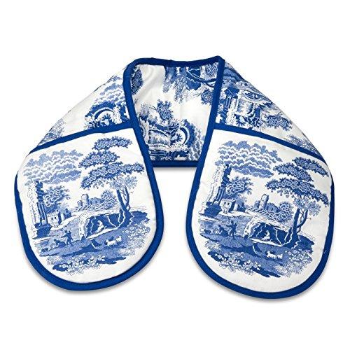 """classique bleu Italien floral bleu blanc gant cuisine double 18 x 88cm – 7"""" x 35"""""""