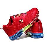 HYJMJJ Zapatos para Correr Hombres Transpirables Antideslizantes para Mujeres Deportes Zapatos Deportivos de Moda para Caminar Tenis de pie Zapatillas de Deporte de Apodo de Aire,Rojo,38