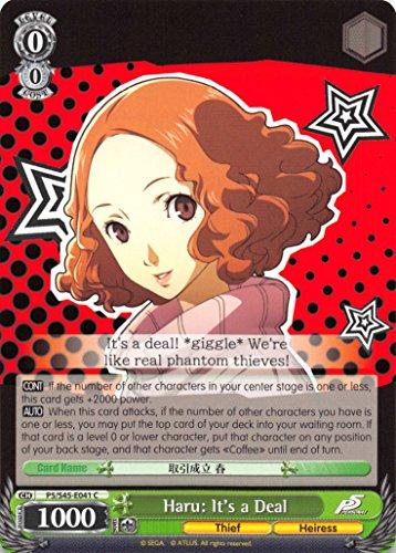 Haru: It's a Deal - P5/S45-041 - C - Persona 5