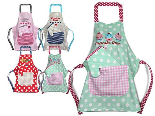 Emily´s Check Kochmütze - Küchenschürze & Topfhandschuh für Kinder 468.550, Küchenschürze & Topfhandschuh 7-12 Jahre, Cupcake Queen