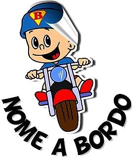 STICKEREDO Bimbo a bordo adesivo auto personalizzato con qualsiasi nome colorato. Applicazione esterna