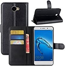 Huawei Ascend XT 2 Case, Fettion Premium PU Leather Wallet Flip Phone Protective Case Cover with Card Slots and Magnetic Closure for Huawei Ascend XT2 H1711 Smartphone (Wallet - Black)