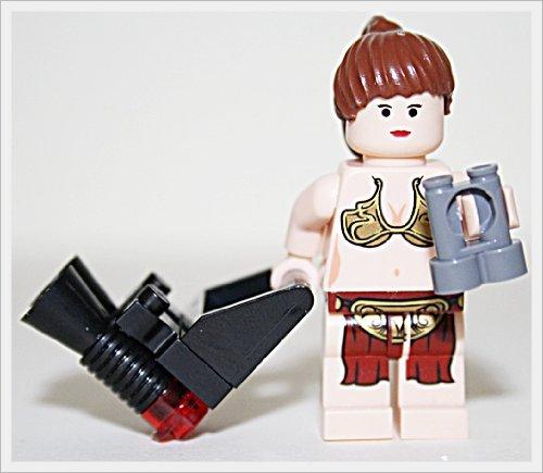 LEGO Star Wars - Minifigur Prinzessin Leia Fleisch mit Fernglas Blaster und Waffenhalterung