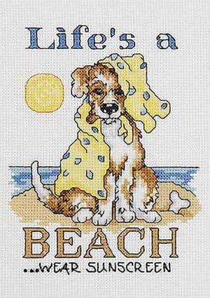 Life's A Beach Counted Latest item Stitch Tulsa Mall Kit Cross
