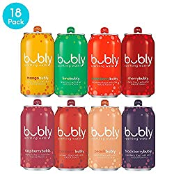 bubly Sparkling Water, Berry Bliss Sampler, 12 Fluid Ounces Cans, (Pack of 18)