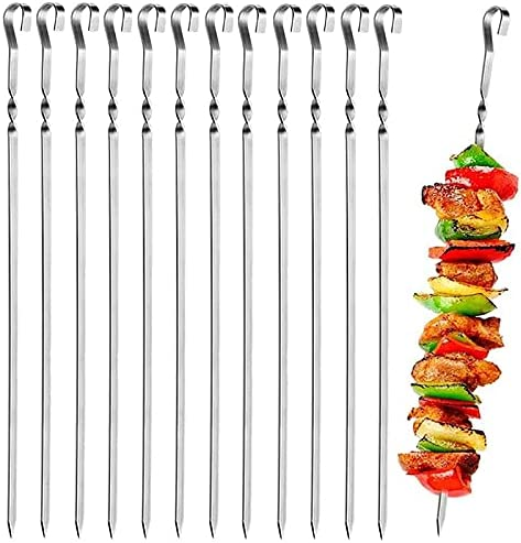 ETIN Kebab Skewers Set of Steel Stainless Low price Barbecue 10 L Long Beach Mall