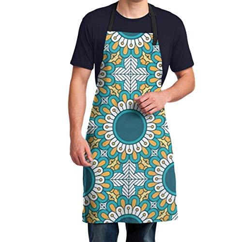 Patrn extico verde fcil de usar delantal de cocina para chef delantal para uas con cuello ajustable delantales de chef para cocina, cocina, lavado de platos, carnicero, aseo de perros, barbac