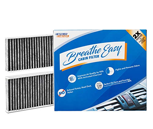 Spearhead Premium Breathe Easy Cabin Filter, Up to 25% Longer Life w/Activated Carbon (BE-553)