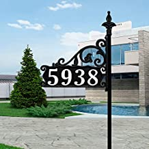 USA Handcrafted Boardwalk Reflective 911 Address Sign on 47