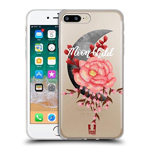 Head Case Designs Flores Ilustración de Luna Carcasa de Gel de Silicona Compatible con Apple iPhone 7 Plus/iPhone 8 Plus