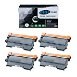TonerPlusUSA Compatible TN450 Toner Cartridge Replacement for Brother TN450 TN-450 Black, High Yield [4 Pack]