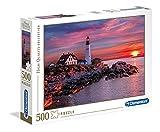 Clementoni Head Light Puzzle 500 Piezas Faro de Portland, Multicolor (35049)