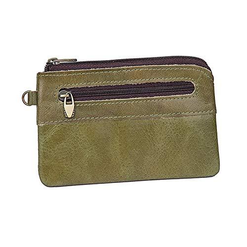 Women's PU Leather Coin Purse Mini Pouch Change Wallet Zipper Pocket Size Pouch Change Wallets - green - 5x0.59x2.99