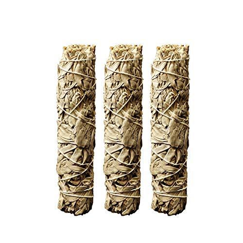 LouisaYork Paquetes de Salvia Blanca, Varillas de Incienso de Salvia, Quema Salvia para Limpiar energía Negativa Clara y purifica 18 cm