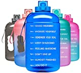 Venture Pal Large 128oz Leakproof BPA Free Fitness Water Bottle with Motivational Time Marker to Ensure You Drink Enough Water Throughout The Day