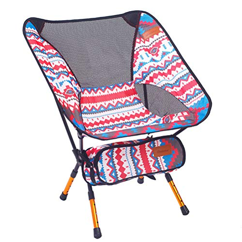 LIOOBO Plegable portátil Silla de Pesca Silla de Camping 600D Silla Oxford...
