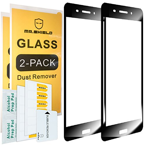 Mr.Shield [2-Pack for Nokia 6 [Tempered Glass] [FullCover] [Black] Screen Protector with Lifetime Replacement