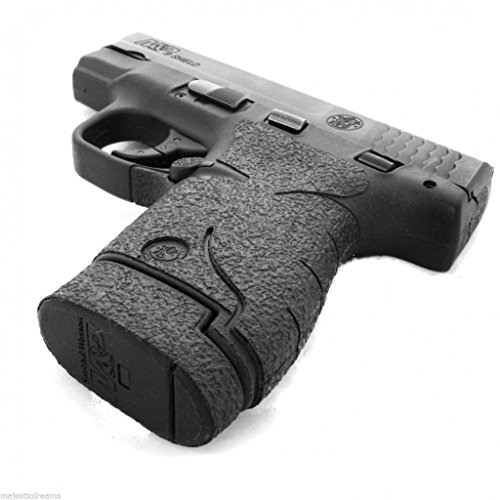 TALON Grips for Smith & Wesson M&P Shield Black Rubber - 705R W/Two Ext Mag Grips 737