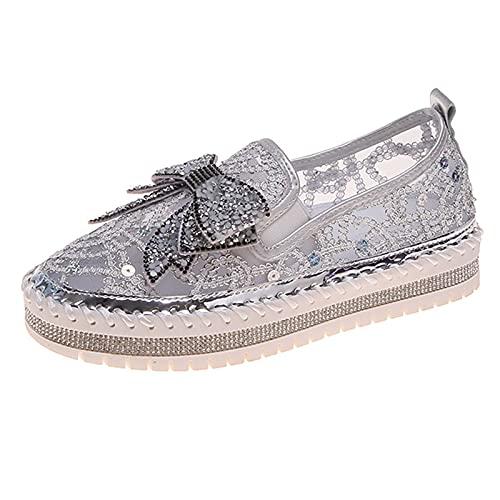 Zapatos Mujer Casuales Planas Diamante de imitación Cristal Inclinarse Sandalias Mujer Verano...