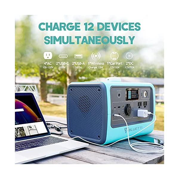 BLUETTI Portable Power Station EB70, 716Wh Solar Generator LiFePO4 Battery Backup 700W Inverter with 2x100W Type-C PD…