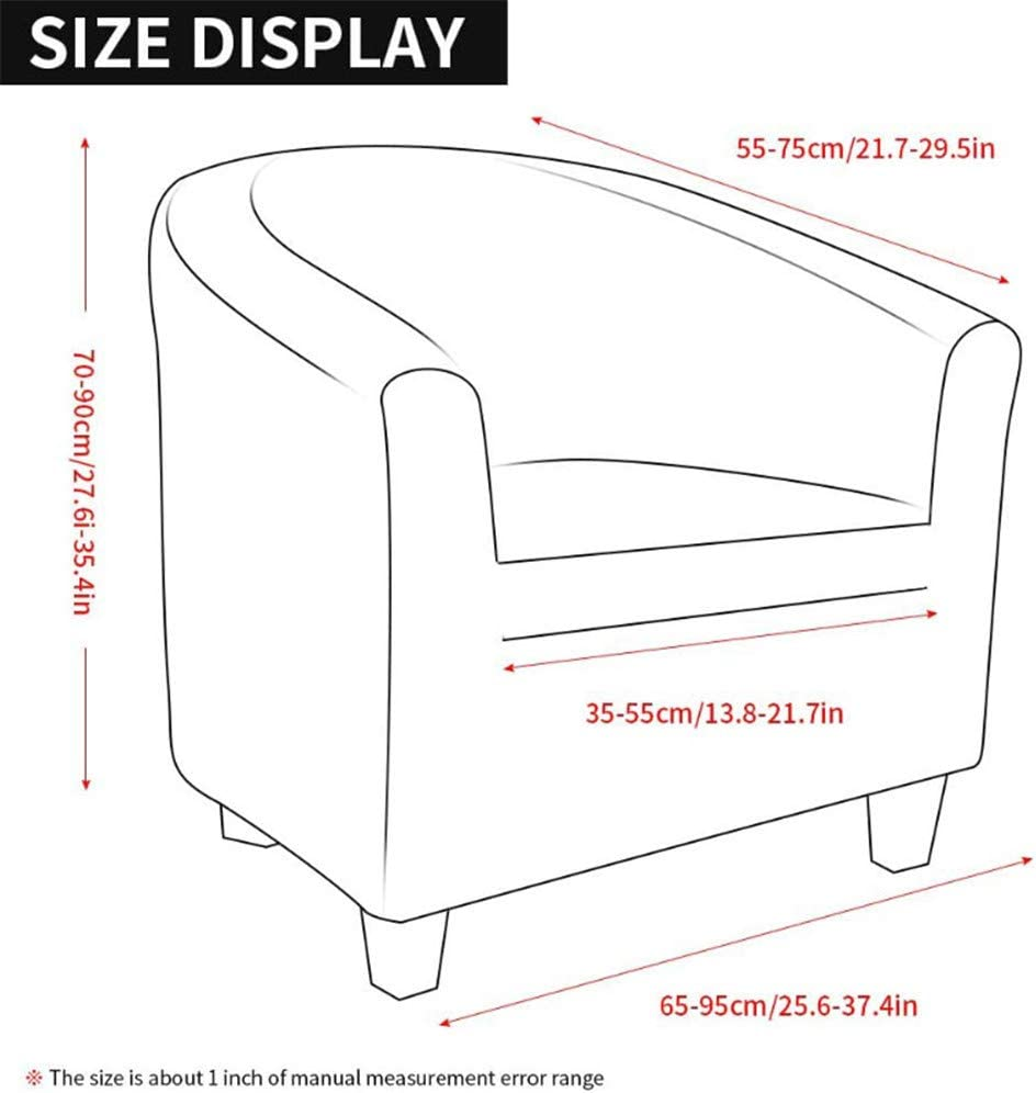 Beige 1 Piece Armchair Covers Tub Chair Slipcovers Washable Sofa Couch Cover for Bar Counter Living Room Dining Room Reception XDKS Tub Chair Covers for Armchairs