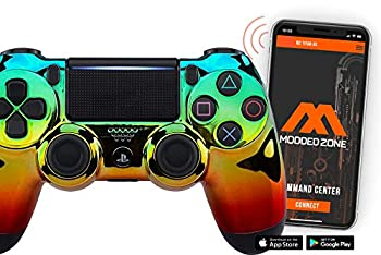 Smart Chrome GGR PS4 PRO Modded Controller for Rapid Fire FPS MOD Pack Custom Modded Controller for All Major Shooter Games Warzone & More  CUH-ZCT2U