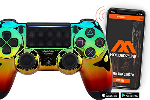 Smart Chrome GGR PS4 PRO Modded Controller for Rapid Fire FPS MOD Pack Custom Modded Controller for All Major Shooter Games Warzone & More (CUH-ZCT2U)