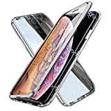 Funda para Xiaomi Redmi 9 Magnética Carcasa,Funda Protectora de Cuerpo Completo 360 Grados con Cristal Templado Protector de Pantalla,Antigolpes Rugged Metal Bumper Case Cover para Redmi 9,Plata
