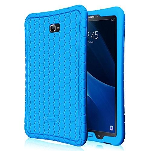 Fintie Hülle für Samsung Galaxy Tab A 10,1 Zoll T580N / T585N Tablet - [Bienenstock Serie] Leichte Rutschfeste Stoßfeste Silikon Schutzhülle Tasche Hülle Cover, Blau