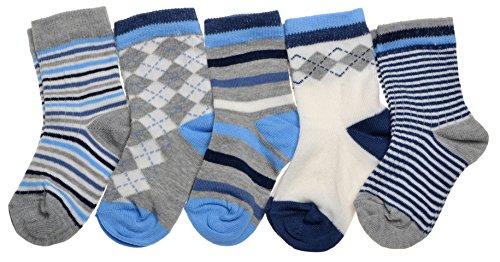 WB Socks Lot de 5 Paires de Chaussettes Bébé Garçon - Gamme de Pointures