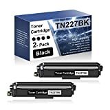 2 Pack Black TN227BK Compatible Toner Cartridge Replacement for Brother DCP-L3510CDW L3550CDW HL-3210CW 3230CDW 3270CDW 3230CDN 3290CDW MFC-L3770CDW L3730CDW L3710CW L3750CDW Series Printers
