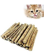 Matatabi, Catnip Gatto, Bastoncini di Erba gatta, Trattamento Dentale Naturale e Giocattolo, per la Protezione e la Cura dei Denti, Confezione da 30 bastoni (Brown)