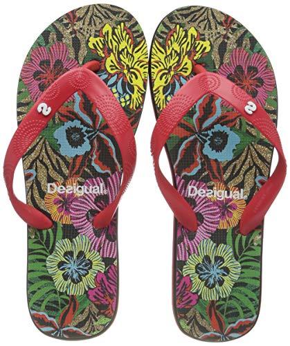 Desigual Damen Shoes (FLIP Flop_Tropical) Zehentrenner, Schwarz (Negro 2000), 37 EU
