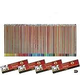 Koh-I-Noor Lot de crayons 48 pastel Gioconda à la mine tendre - Taille-crayon inclus