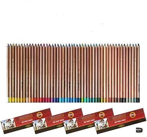 Gioconda Koh-I-Noor - Juego de 48 lápices de colores pastel con sacapuntas