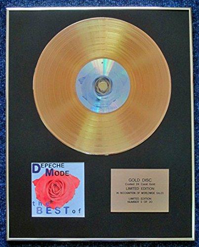 Depeche Mode–Limited Edition CD 24Karat Gold beschichtet LP Disc–The Best Of Volume 1