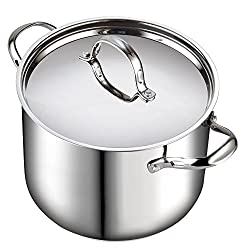 in budget affordable Cook standard quart classic stainless steel pot with lid, 12-QT, silver