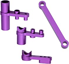Hobbypark 102057 Aluminum Servo Saver Complete Set Ackerman Plate Purple for Redcat Volcano Epx HSP Exceed RC 1/10 Truck Buggy Car Upgrade Parts