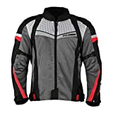 TVS Polyester Riding Jacket - Level 1 (Red Line, M)