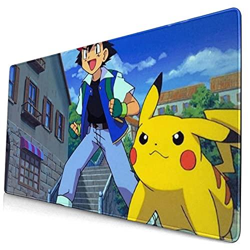 Tapis de souris Pokémon avec photo – Cadeau personnalisé – Base en caoutchouc antidérapant pour PC, ordinateur portable, Mac, salle de jeux, bureau, tapis de souris fantaisie pour « 75 x 40 cm »