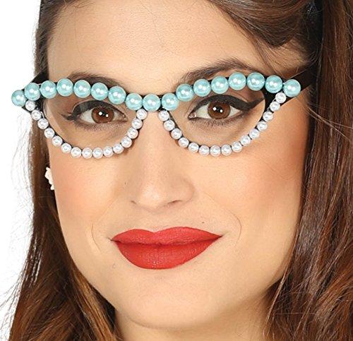 Occhiali anni 50 con perle