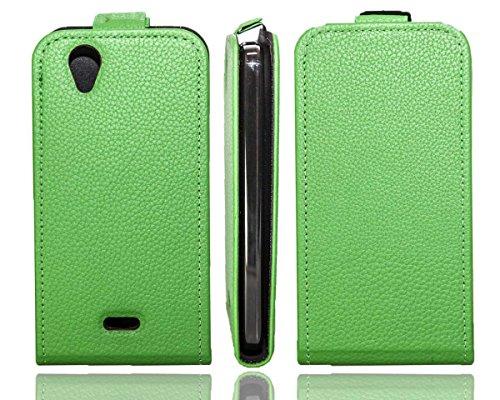 caseroxx Flip Cover für Wiko Birdy 4G, Tasche (Flip Cover in grün)