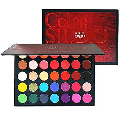 35 Color Studio Lidschatten Palette Makeup Palette, Perfekt Untereinander Kombinierbare Farbnuancen, Matt, Leuchtende und Schimmernde Texturen, Für Verführerische Augen